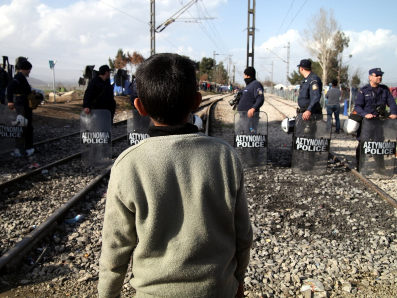 Flüchtlingsjunge in Griechenland Quelle über dts Nachrichtenagentur